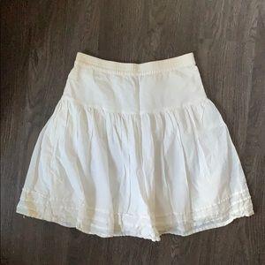 Gap flows white midi skirt